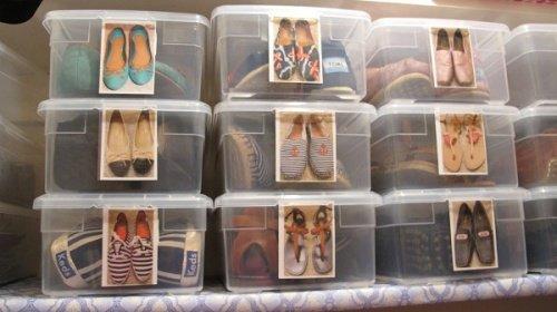 Ordenar zapatos con cajas y fotos